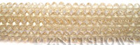 Tiaria Glass Crystal cream color rondelle Beads <b>6x4mm</b> faceted   per   <b> 8.5-in-str (50-pc-str)</b>