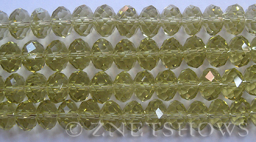 Tiaria Glass Crystal 10-Sunglow rondelle Beads <b>12x8mm</b> faceted     per   <b> 8-in-str (24-pc-str)</b>