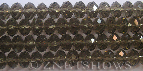 Tiaria Glass Crystal 15-Smoky Quartz  rondelle Beads <b>12x8mm</b> faceted     per   <b> 8-in-str (24-pc-str)</b>