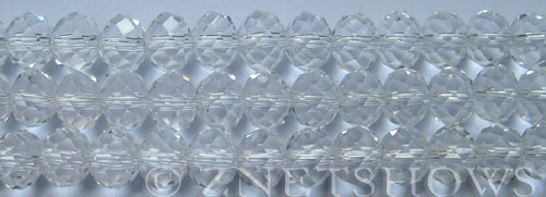 Tiaria Glass Crystal 01-Crystal rondelle Beads <b>10x8mm</b> faceted     per   <b> 8-in-str (26-pc-str)</b>