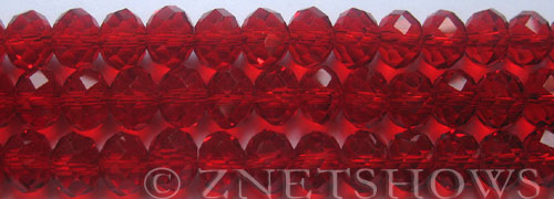 Tiaria Glass Crystal 04-Light Cherry rondelle Beads <b>10x8mm</b> faceted     per   <b> 8-in-str (26-pc-str)</b>
