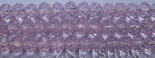 Tiaria Glass Crystal 06-Blossom Pink rondelle Beads <b>10x8mm</b> faceted     per   <b> 8-in-str (26-pc-str)</b>