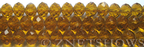 Tiaria Glass Crystal 16-Desert Gold rondelle Beads <b>10x8mm</b> faceted     per   <b> 8-in-str (26-pc-str)</b>