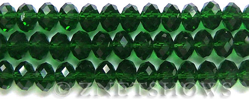 Tiaria Glass Crystal 25-Shamrock rondelle Beads <b>10x8mm</b> faceted     per   <b> 8-in-str (26-pc-str)</b>