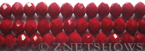 Tiaria Glass Crystal 49-Ruby Red rondelle Beads <b>10x8mm</b> faceted     per   <b> 8-in-str (26-pc-str)</b>