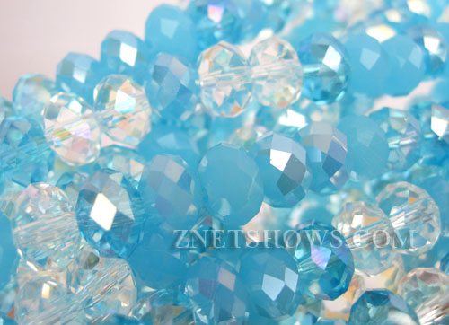 Tiaria Glass Crystal  Tiaria Mix Beads <b>8x5mm</b> faceted   per   <b> 10-str-hank</b>