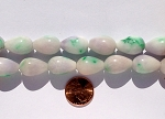 designer color candy jade  teardrop Beads <b>13x18mm</b>  dyed lavender and green swirl color  <b>Huge 80% OFF!</b> per   <b>16 Inch Strand</b>