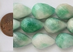 designer color candy jade  teardrop round Beads <b>13x18mm</b> faceted lemon lime color  <b>Huge 80% OFF!</b> per   <b>16 Inch Strand</b>