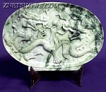 Collectibles jade     Tablet <b>10.5Wx7H Inches</b>  Hand-carved Twin Dragons Tablet per   <b>Piece</b>