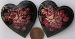 Other Stones & materials -  lacquer heart Pendants <b>About 46mm</b>  Heart Pin - Style H01   per   <b>Piece</b>