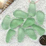 Cultured Sea Glass teardrop nugget Pendants <b>about 10-15x21-28mm</b> 23-Peridot freeform drops <b> top side drilled </b>per <b>10-pc-bag</b>