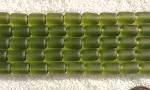 Cultured Sea Glass tube nugget Beads <b>10x6mm</b> 22-Olive per <b>5-str-hank(13-pc-str)</b>