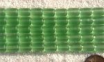 Cultured Sea Glass tube nugget Beads <b>10x6mm</b> 23-Peridot per <b>5-str-hank (13-pc-str)</b>