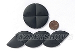 Cultured Sea Glass Cabachons and Art Tiles Quadrant Puffed <b>25mm</b> 02-Jet Black per <b>10-pc-bag</b>