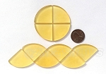 Cultured Sea Glass Cabachons and Art Tiles Quadrant Puffed <b>25mm</b> 16-Desert Gold per <b>10-pc-bag</b>