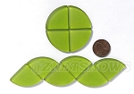 Cultured Sea Glass Cabachons and Art Tiles Quadrant Puffed <b>25mm</b> 22-Olive per <b>10-pc-bag</b>