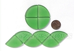 Cultured Sea Glass Cabachons and Art Tiles Quadrant Puffed <b>25mm</b> 25-Shamrock per <b>10-pc-bag</b>