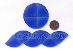 Cultured Sea Glass Cabachons and Art Tiles Quadrant Puffed <b>25mm</b> 33-Royal Blue per <b>10-pc-bag</b>