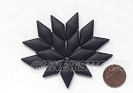 Cultured Sea Glass Cabachons and Art Tiles Diamond Puffed <b>25x12mm</b> 02-Jet Black per <b>15-pc-bag</b>