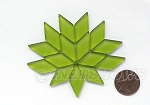 Cultured Sea Glass Cabachons and Art Tiles Diamond Puffed <b>25x12mm</b> 22-Olive per <b>15-pc-bag</b>