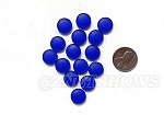 Cultured Sea Glass Cabachons and Art Tiles Coin Puffed <b>12mm</b> 33-Royal Blue per <b>15-pc-bag</b>