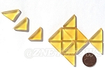 Cultured Sea Glass Cabachons and Art Tiles Triangle Puffed <b>25x12mm</b> 16-Desert Gold per <b>15-pc-bag</b>