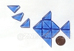 Cultured Sea Glass Cabachons and Art Tiles Triangle Puffed <b>25x12mm</b> 31-Light Sapphire per <b>15-pc-bag</b>