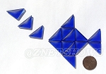 Cultured Sea Glass Cabachons and Art Tiles Triangle Puffed <b>25x12mm</b> 33-Royal Blue per <b>15-pc-bag</b>