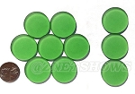 Cultured Sea Glass Cabachons and Art Tiles Coin Puffed <b>25mm</b> 25-Shamrock per <b>10-pc-bag</b>