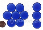 Cultured Sea Glass Cabachons and Art Tiles Coin Puffed  <b>25mm</b> 33-Royal Blue per <b>10-pc-bag</b>