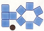 Cultured Sea Glass Cabachons and Art Tiles Square Puffed <b>25mm</b> 31-Light Sapphire per <b>10-pc-bag</b>