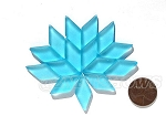 Cultured Sea Glass Cabachons and Art Tiles Diamond Puffed <b>25x12mm</b> 28-Turquoise Bay per <b>15-pc-bag</b>