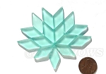 Cultured Sea Glass Cabachons and Art Tiles Diamond Puffed <b>25x12mm</b> 88-Light Aqua `Coke` bottle Seafoam per <b>15-pc-bag</b>