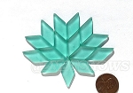 Cultured Sea Glass Cabachons and Art Tiles Diamond Puffed <b>25x12mm</b> 89-Autumn Green per <b>15-pc-bag</b>