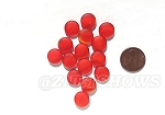 Cultured Sea Glass Cabachons and Art Tiles Coin Puffed <b>12mm</b> 83-Tangerine per <b>15-pc-bag</b>