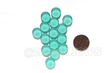 Cultured Sea Glass Cabachons and Art Tiles Coin Puffed <b>12mm</b> 89-Autumn Green per <b>15-pc-bag</b>