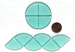 Cultured Sea Glass Cabachons and Art Tiles Quadrant Puffed <b>25mm</b> 89-Autumn Green per <b>10-pc-bag</b>