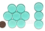 Cultured Sea Glass Cabachons and Art Tiles Coin Puffed <b>25mm</b> 89-Autumn Green per <b>10-pc-bag</b>