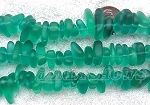 Cultured Sea Glass pebbles Beads  <b>9x6mm</b> 26 Light Emerald    per  <b>8-in-str</b>. For this Color:  pricing reflects a 30% off to cover some pieces with chips, scratches or imperfect drilling. So NO RETURNS PLEASE!