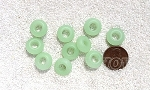 Cultured Sea Glass rondelle Beads <b>14x10mm</b> 43-Opaque Seafoam Green per <b>10-pc-bag</b>