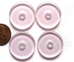 Cultured Sea Glass donut Pendants <b> 25mm</b> 06 - Blossom Pink per <b> 10-pc-bag</b>