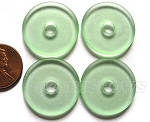 Cultured Sea Glass donut Pendants <b> 25mm</b> 23- Peridot per <b> 10-pc-bag</b>