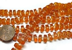Cultured Sea Glass button heish Beads <b>9mm</b> 57-Saffron Yellow per <b>5-str-hank(36-pc-str)</b>