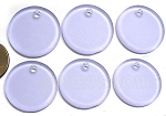 Cultured Sea Glass Flat Coin Pendants <b>25mm</b> 39-Periwinkle Changes per <b>6-pc-bag</b>