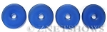 Cultured Sea Glass donut Pendants <b> 25mm</b>- 33 - Royal Blue per <b> 10-pc-bag</b>