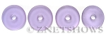 Cultured Sea Glass donut Pendants <b> 25mm</b>-39 - Periwinkle Changes per <b> 10-pc-bag</b>