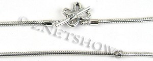 BM Bracelets <b>about 8.5 inches</b> Antique Silver Tone silver plated alloy rope chain with butterfly toggle clasp per   <b>1-str-bag</b>