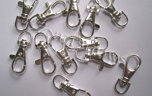 Base Metal Findings <b>38x16mm</b> Antique Silver Tone Silver Plated Keychain Clasps per   <b>piece</b>