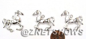 BM Animal Beads <b>30x27mm</b> Bright Silver Tone    per   <b>13-pc-bag</b>