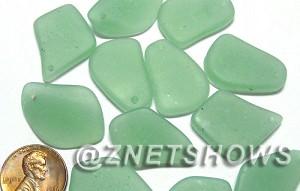 cultured sea glass top drilled flat freeform mix pendants b varied